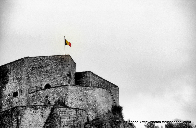 Citadel Fort and Flag Dinant Belgium Namur, Tarun Chandel Photoblog