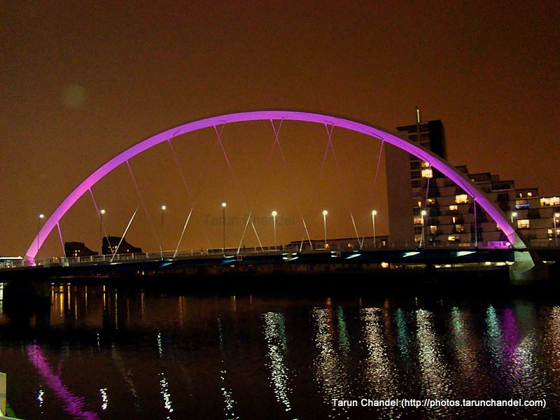 Glasgow Night River Clyde Arc, Tarun Chandel Photoblog