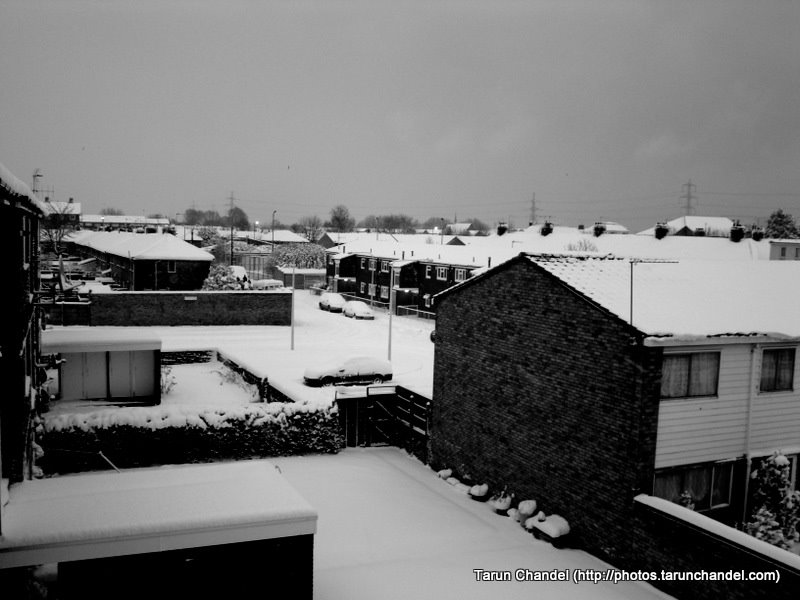 London Snow Covered Street, Tarun Chandel Photoblog