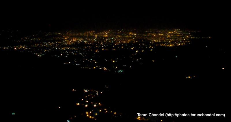 Dehradun from Mussoorie at night, Tarun Chandel Photoblog
