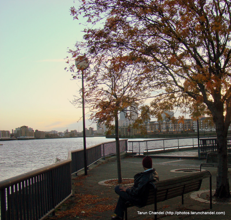 London Evening Thames Riverside, Tarun Chandel Photoblog