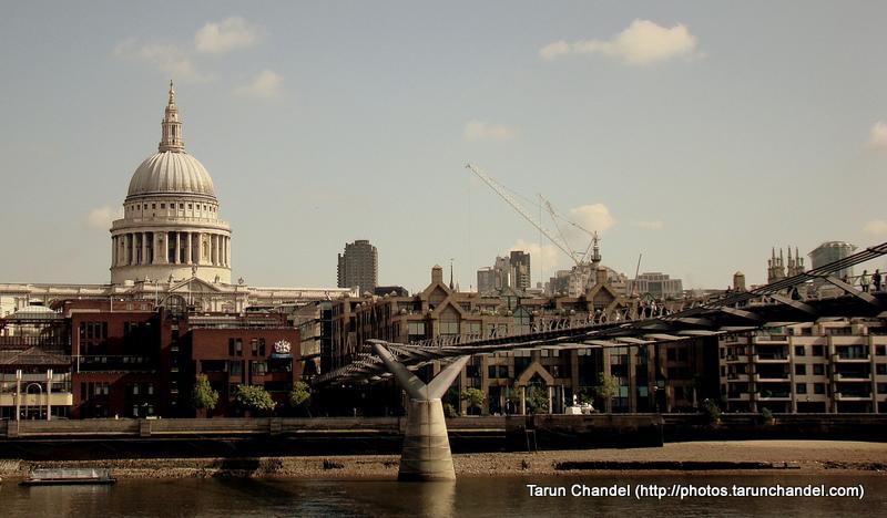 St Pauls Cathedral Millenium Bridge London UK, Tarun Chandel Photoblog