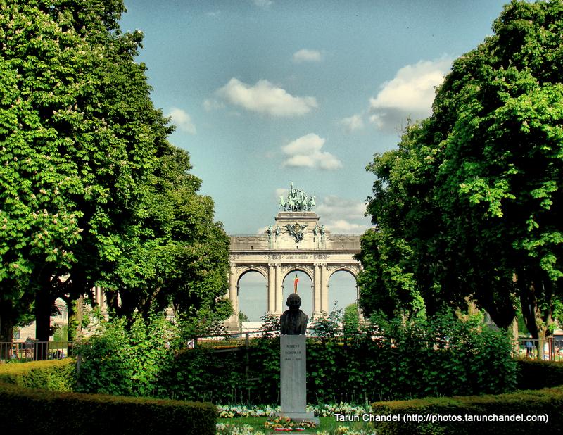 Cinquantenaire Triumphal Arc Arch of Triumph Belgium Brussels, Tarun Chandel Photoblog