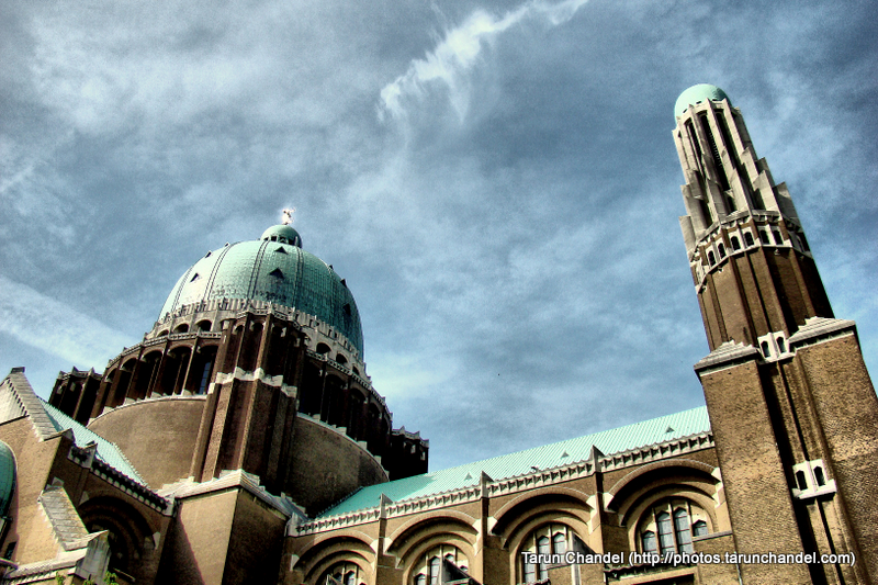 Basilica of the Sacred Heart Brussels Belgium Back Sky, Tarun Chandel Photoblog