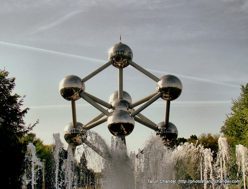 Atomium Fountains Belgium Brussels, Tarun Chandel Photoblog