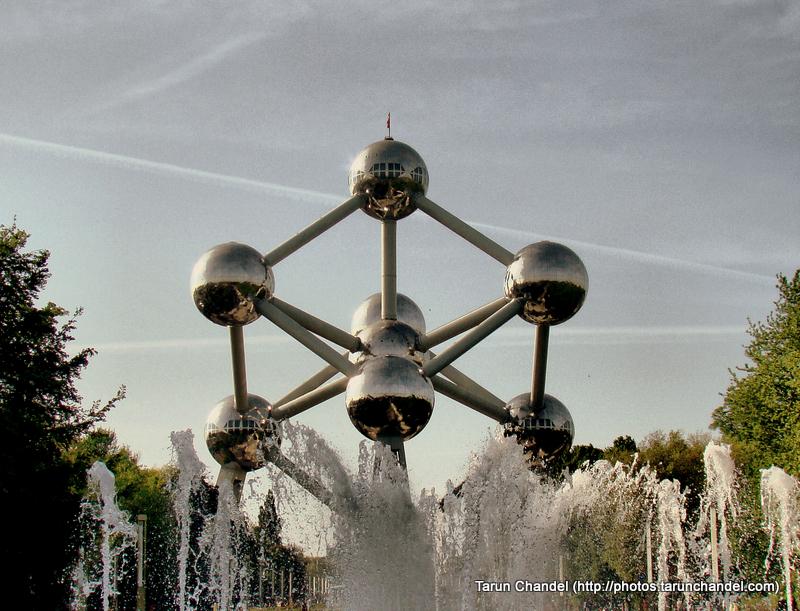 Atomium Fountains Belgium Brussels, Tarun Chandel Photoblog