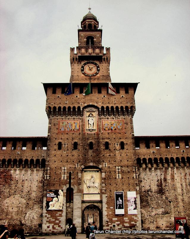Castello Sforzesco Sforza Castle Enterance Milan Italy, Tarun Chandel Photoblog