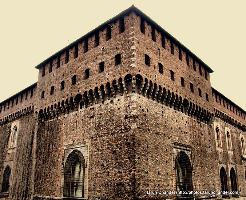 Castello Sforzesco Sforza Castle Side Milan Italy, Tarun Chandel Photoblog