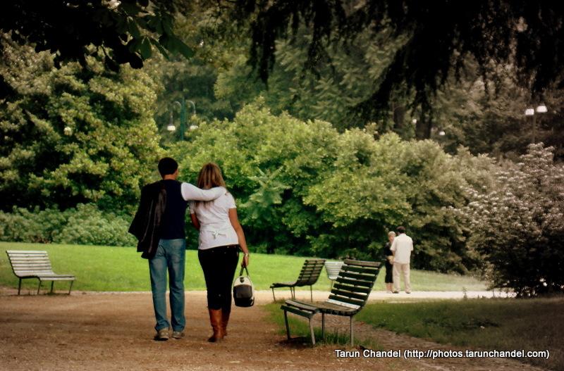 Parco Sempione Park Couple Milan Italy, Tarun Chandel Photoblog