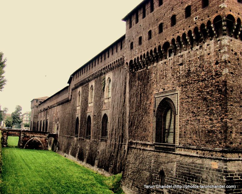 Castello Sforzesco Milan Sforza Castle Side Garden Milan Italy, Tarun Chandel Photoblog