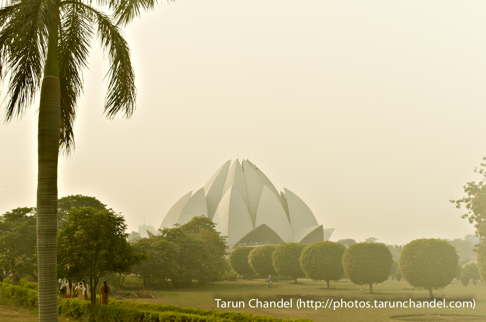 Lotus Temple Fog New Delhi, Tarun Chandel Photoblog
