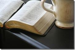 Bible with White mug