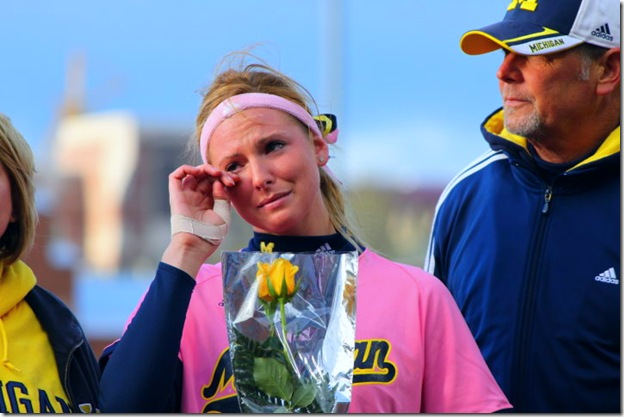 mags senior day tears