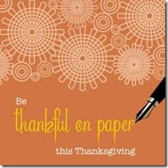 thankful on paper