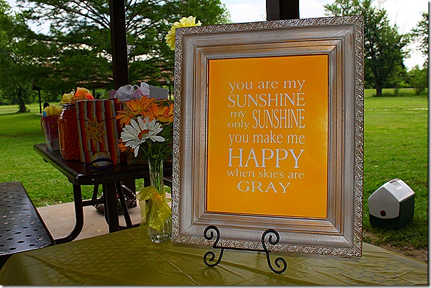 Gracie Sunshine party You Are My Sunshine Framed