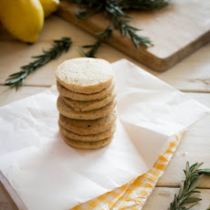 Lemon Rosemary Butter Cookies