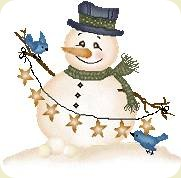 Christmassnowmanwithstringofstars