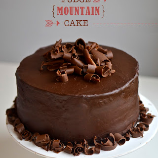Flourless Chocolate Mountain Cake