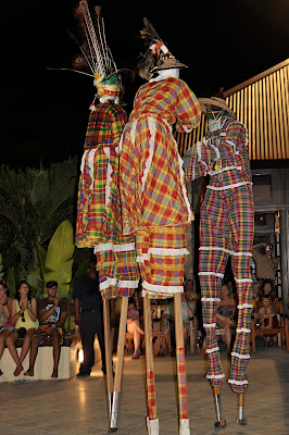 3 mocko jumbie dancers
