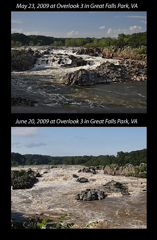 two views of Great Falls of the Potomac River