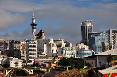 Auckland Skyline with view of Sky Tower