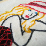 Embroidered Pin-up girl for Kristy