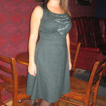Bottle Green Coffee Date Dress