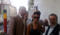 with Rihanna in Venice