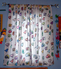 hand printed curtains