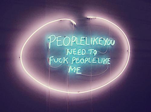 neon fuck people