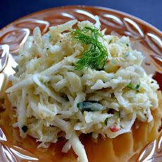 Creamy Celery Root and Fennel Slaw