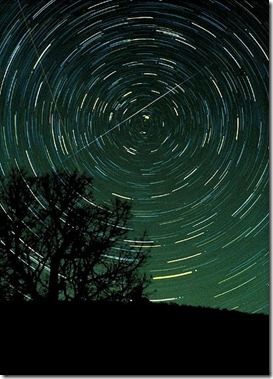 Geminids over Brasstown Bald Mountain (GA) by NASA