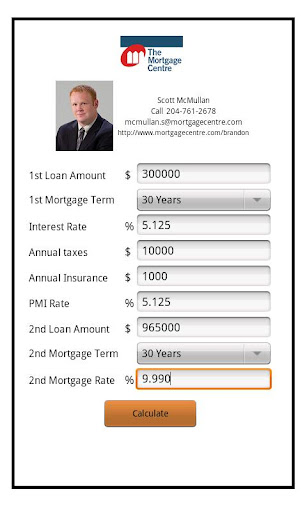 Scott McMullan's Mortgage Calc
