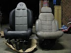 Comparison of Corbeau Baja RS and stock XJ seat