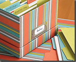 pretty paper file box