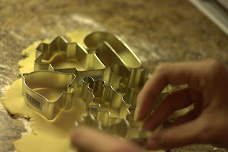 picture of using cookie cutters