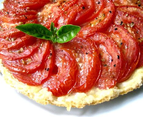 ... an upside down tomato tart hence the name tatin like the beloved