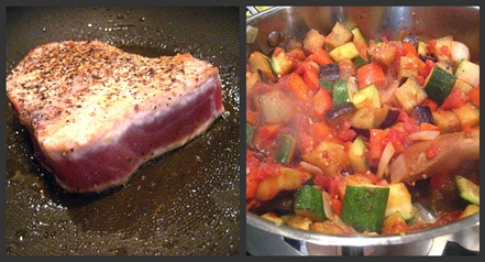 tuna ratatouille collage