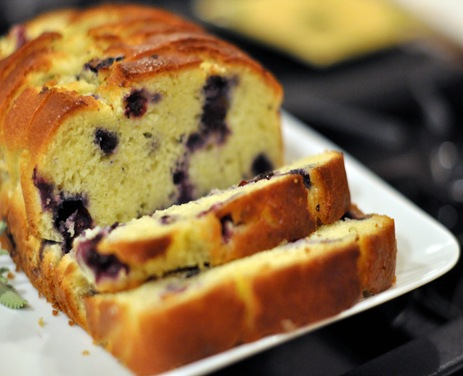 Stacey Snacks: Lemon Blueberry Yogurt Cake w/ Rosemary
