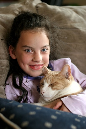 Kristi and her cat