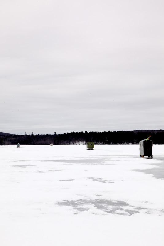 Ice fishing shacks in maine for Maine ice fishing