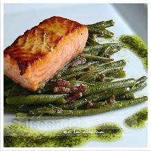 Delicias de la macetohuerta y salmón