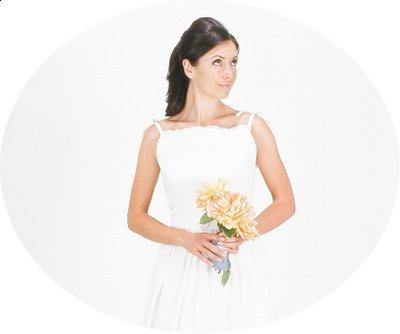 This eyelet dress can work well as reusable bridal attire