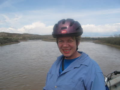 Nancy on a Bike Ride Along the Colorado River
