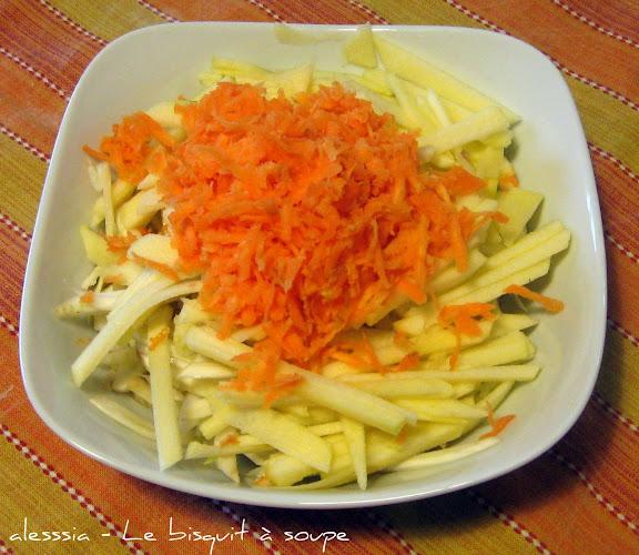 Insalata di mele, finocchi e carote