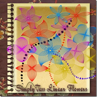 SimplyTess Linear Flowers Preview