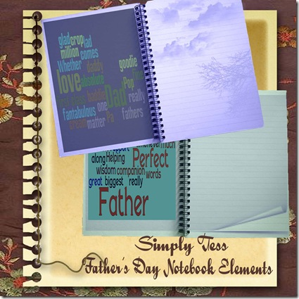 SimplyTess Father's Day Notebook Elements