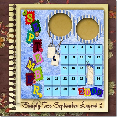 SimplyTess September Layout 02 Preview