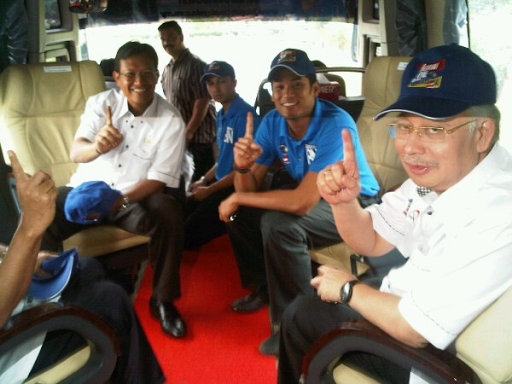 On board Jelajah One Malaysia's Official Vehicle.