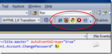 Visual Studio default browser choosing